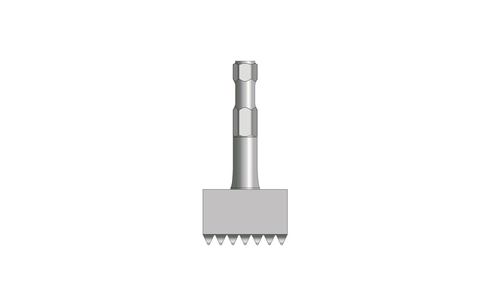VOGT Stockerplatte mit 7x7 Zähnen 60/60 mm, l = 150 mm