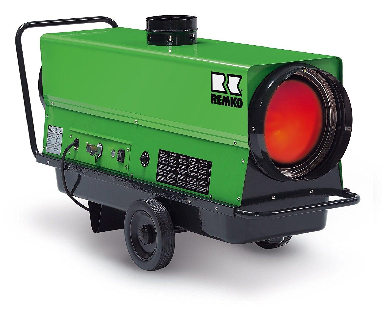 REMKO Öl-Heizlüfter ATK 25 - mobile Heizkanone mit Abgasanschluss und Ölbrenner