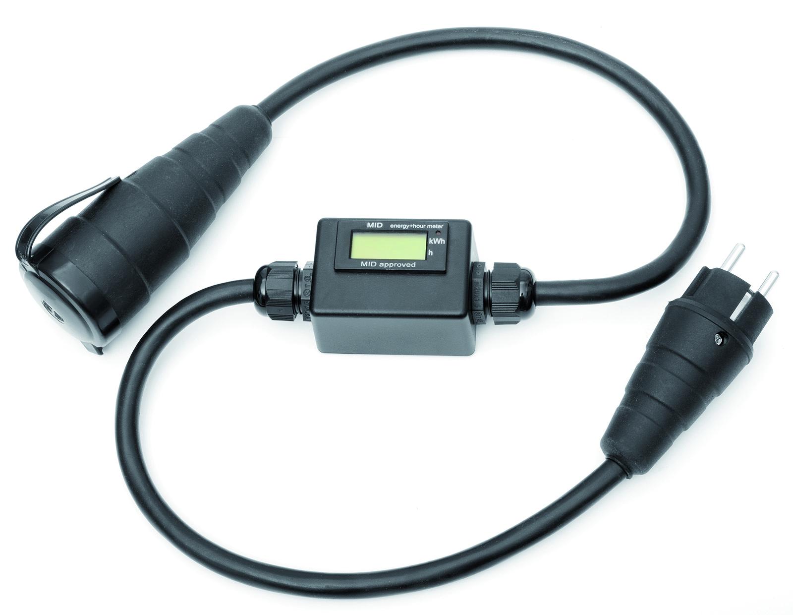 Mobiler Stromzähler Mini ABS-Gehäuse - Digitaler Energiezähler zu Abrechnungszwecken geeignet - MID geeicht