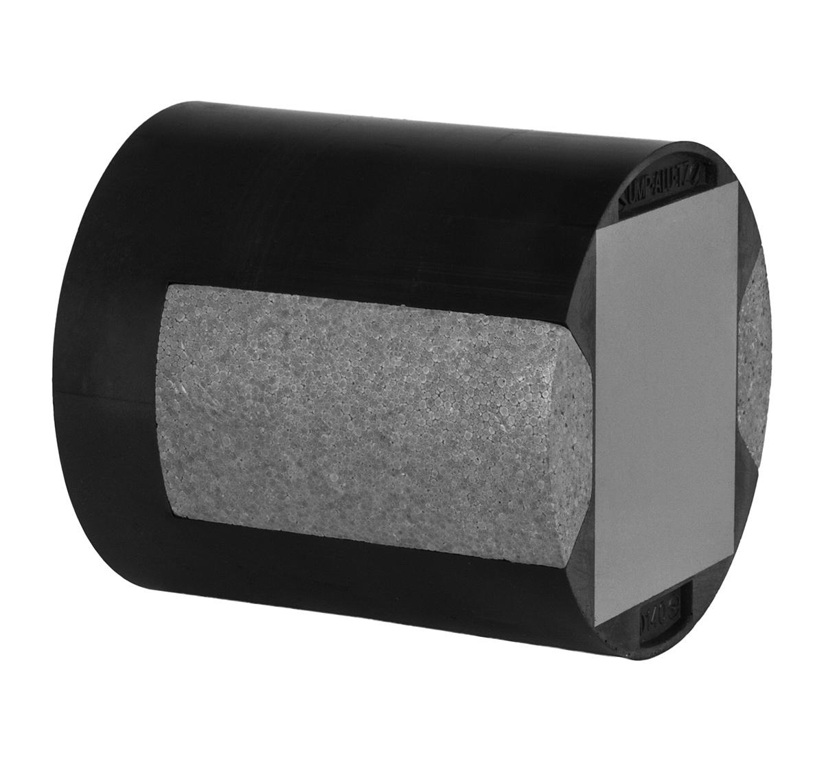Universalmontageplatte UMP® -ALU-TZ (zylindrisch) - für Mauerwerk - 300 mm