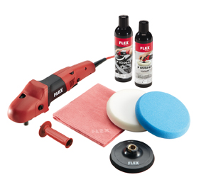 FLEX PE 14-3 125 - Ergonomischer Polierer mit Gasgebeschalter im Set
