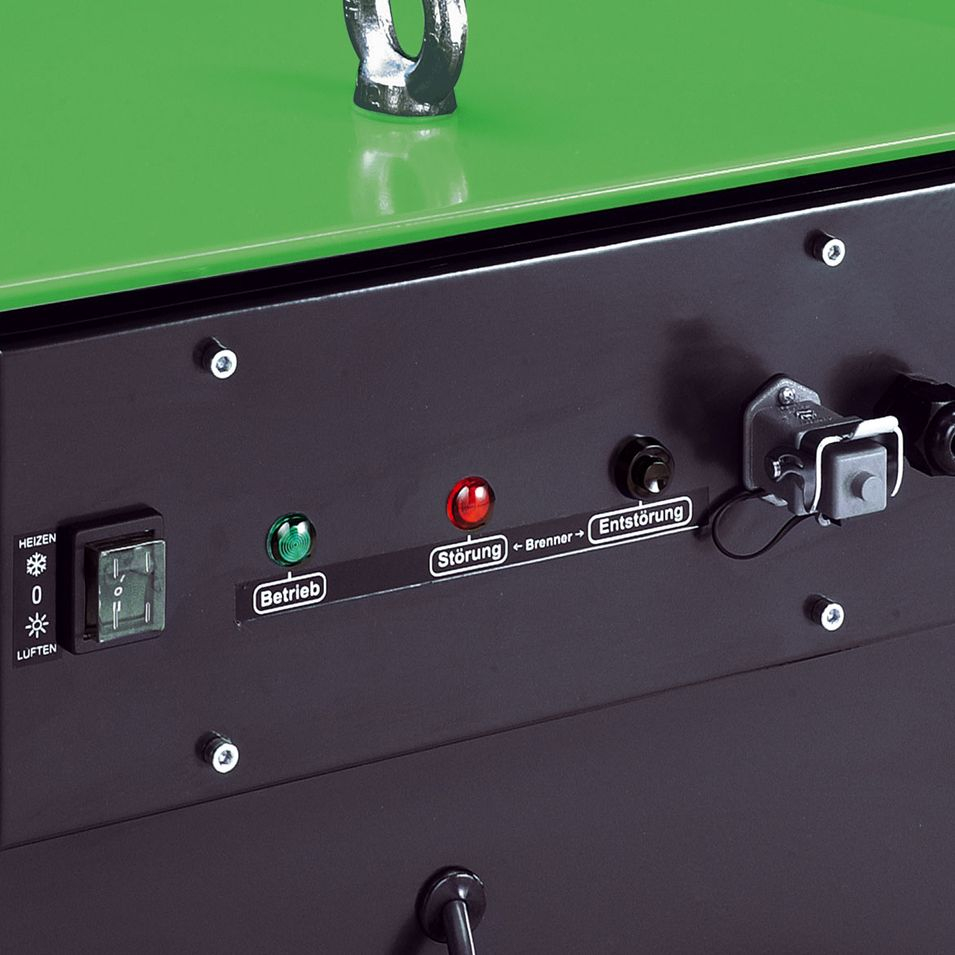 REMKO CLK 80-RV mit Gebläse-Ölbrenner - Zahlreiche Möglichkeiten der Warmluftverteilung