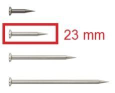 Gann Elektrodenspitzen ohne Isolation, 23 mm