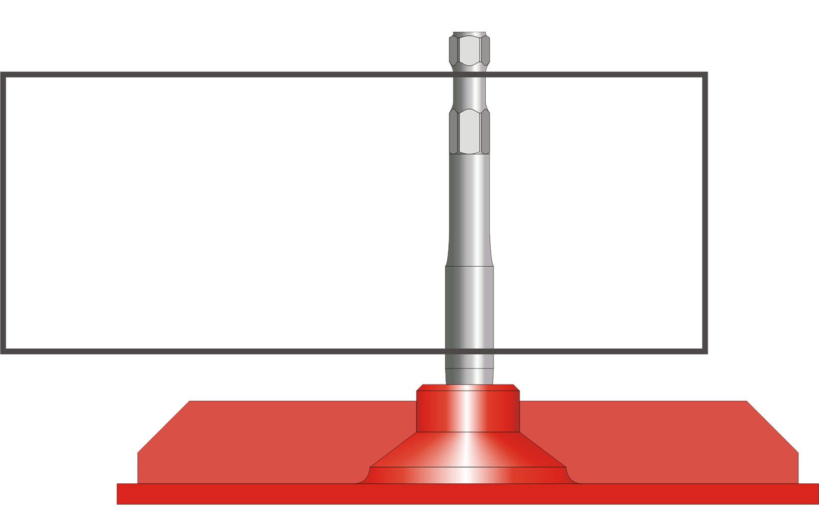 VOGT Verdichterplatte rechteckig 340/120 mm mit Konushalter