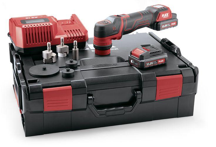 FLEX PXE 80 10.8-EC/2.5 Set Smarter Akku-Polierer 10,8 V - Rotativ und exzentrisch freilaufend