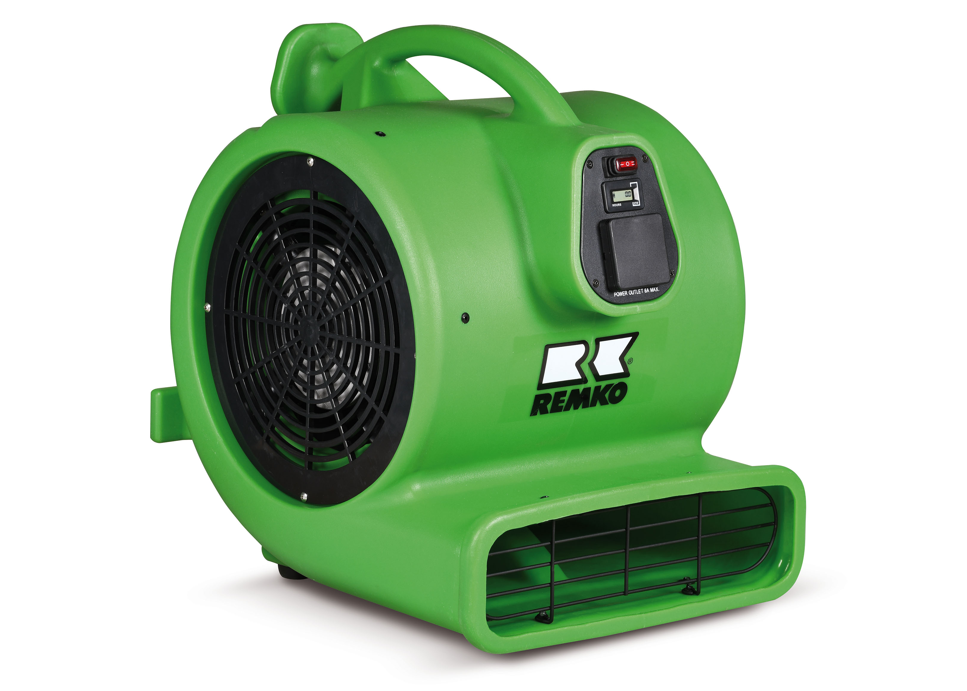REMKO RTV 35 Turbo-Ventilator mit Netzsteckdose und Stundenzähler