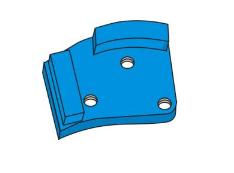CONTEC Schleifschuh Diamant VS1 Blau