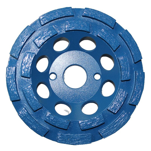 CONTEC Diamantschleifscheibe doppelreihig 125 mm blau