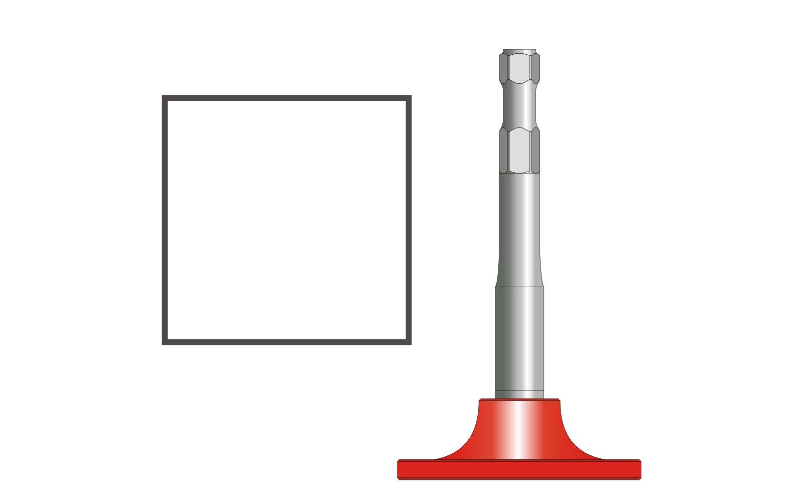 VOGT Verdichterplatte quadratisch 120/120 mm, l = 220 mm