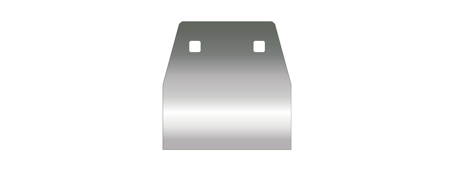 VOGT Schaber 120/120 mm stumpf