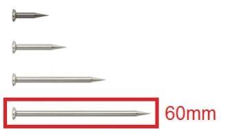 Gann Elektrodenspitzen ohne Isolation, 60 mm